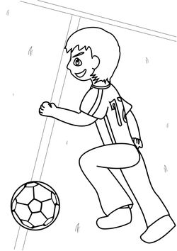 Football free coloring pages for kids