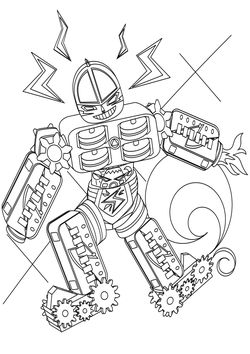Sinkerizer Robo Coloring Pages for kids