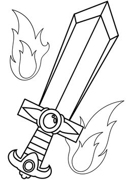 Sword 1 Coloring Pages for kids