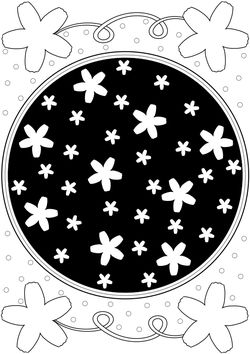 Cherry blossom coloring book Coloring Pages for kids