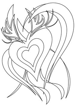 Queen of hearts free coloring pages for kids
