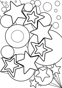 Star 4 free coloring pages for kids