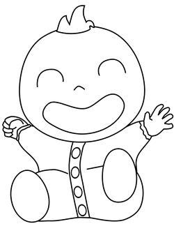 Baby free coloring pages for kids