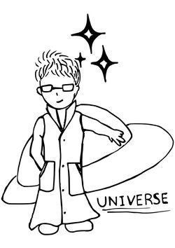 Space scientist free coloring pages for kids