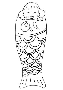 koinobori4 free coloring pages for kids