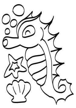Seadragon free coloring pages for kids