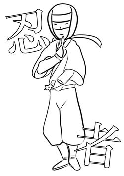 Ninja2 free coloring pages for kids