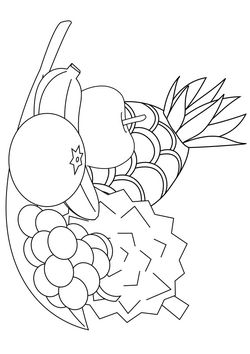 Fruits free coloring pages for kids