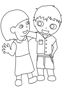 Friendly1 free coloring pages for kids