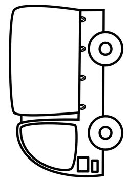 Truck free coloring pages for kids