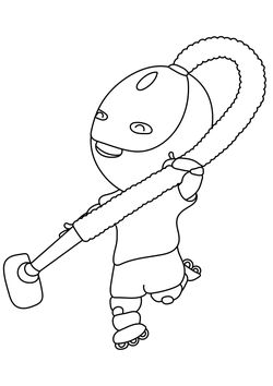 Cleaning Robot Coloring Pages for kids