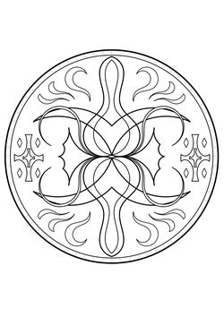 Mandala14 Coloring Pages for kids