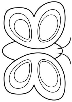 Butterfly 2 free coloring pages for kids