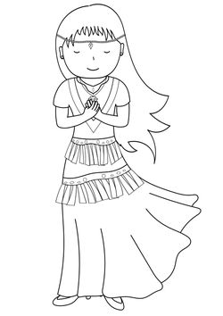 Princess1 free coloring pages for kids