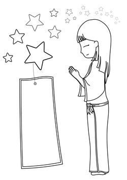 Tanabata2 free coloring pages for kids