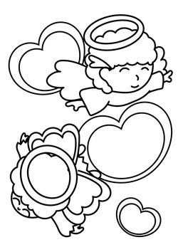 Angel kids free coloring pages for kids