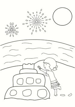 Sand Firework Sea free coloring pages for kids