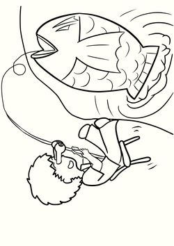 Fishing free coloring pages for kids