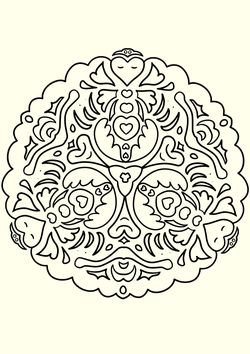 Mandala16 Coloring Pages for kids