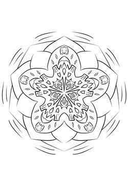 Mandala17 Coloring Pages for kids
