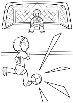 Soccer3 free coloring pages for kids
