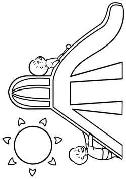 Slide free coloring pages for kids