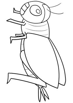 Cricket2 Coloring Pages for kids