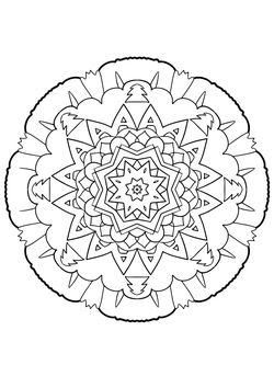 Mandala22 Coloring Pages for kids