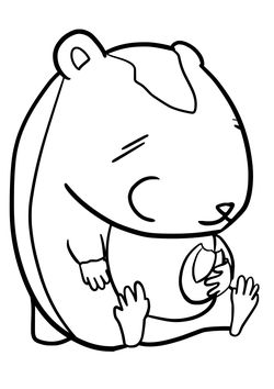 Hamster free coloring pages for kids