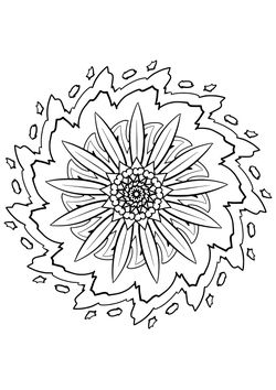 Mandala23 Coloring Pages for kids