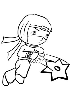Ninja3 free coloring pages for kids