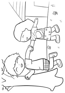 Walking2 free coloring pages for kids