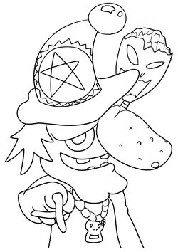 Witch2 free coloring pages for kids