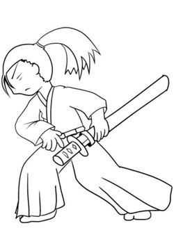 Samurai1 free coloring pages for kids