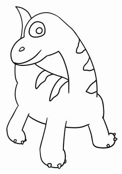 Brachiosaurs2 free coloring pages for kids
