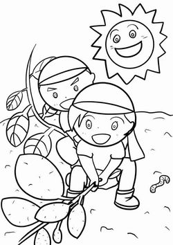 Imohori picnic free coloring pages for kids