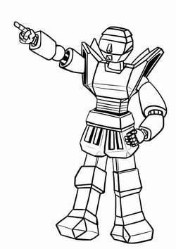 Robot2 Coloring Pages for kids