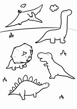 Dinosaurs3 free coloring pages for kids