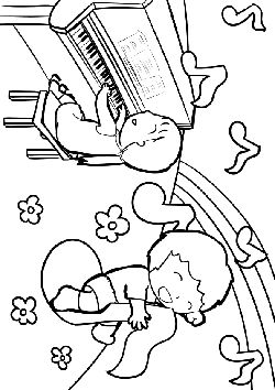 Piano music free coloring pages for kids
