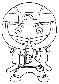 Ninja4 free coloring pages for kids