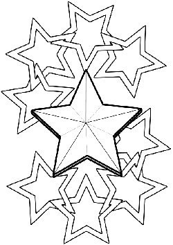 Star5 free coloring pages for kids