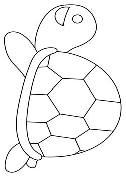 Turtle free coloring pages for kids