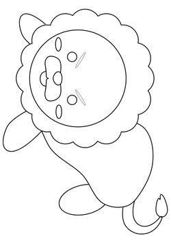Lion free coloring pages for kids