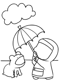 Rainy day free coloring pages for kids
