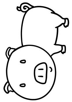 Pig free coloring pages for kids