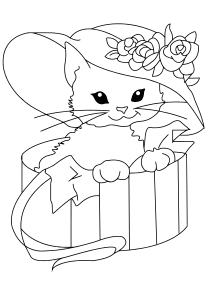 Cat-misu33-4 free coloring pages for kids