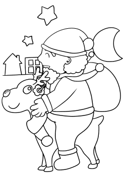 Christmas4 free coloring pages for kids