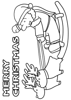 MerryChristmas free coloring pages for kids