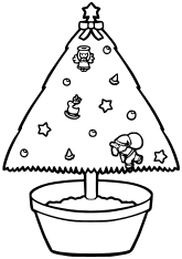 Christmas Tree2 free coloring pages for kids