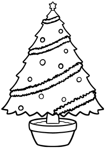 Christmas Tree 4-1 free coloring pages for kids